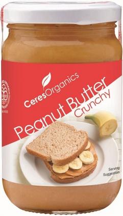 Ceres Organics Peanut Butter Crunchy 300g