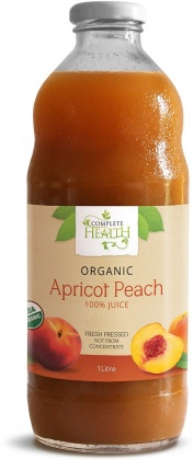 Complete Health Organic Apricot/Peach 100% Juice 1Lt