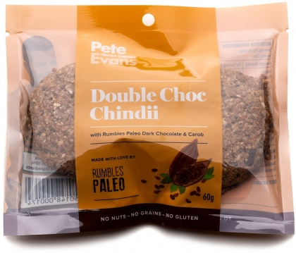 Rumbles Peter Evans Double Choc Chindii Cookie (2x30g) G/F 60g