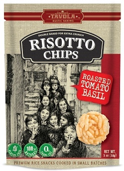 Tavola Risotto Chips Roasted Tomato Basil 84g