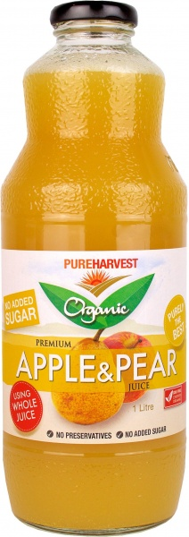 Pure Harvest Organic Pear & Apple Juice 1ltr x 6