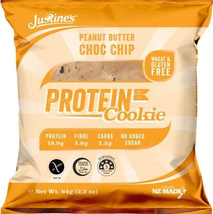 Justine's Complete Protein Cookie Peanut Butter Choc Chip 64g