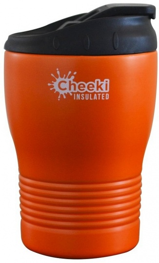 Cheeki Stainless Steel Insulated Coffe Cup Orange 240ml