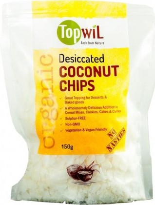 TopwiL Organic Desiccated Coconut Chips 150g