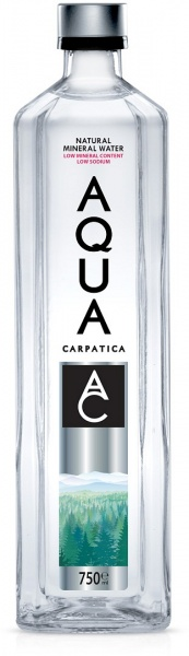 Aqua Carpatica Natural Mineral Water Glass Bottle 6x750ml