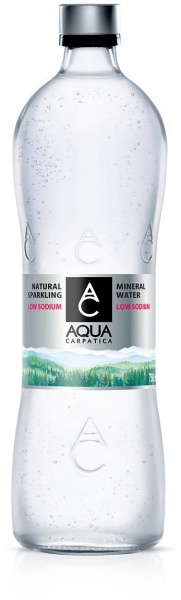 Aqua Carpatica Sparkling Natural Mineral Water Glass Bottle 6x750ml