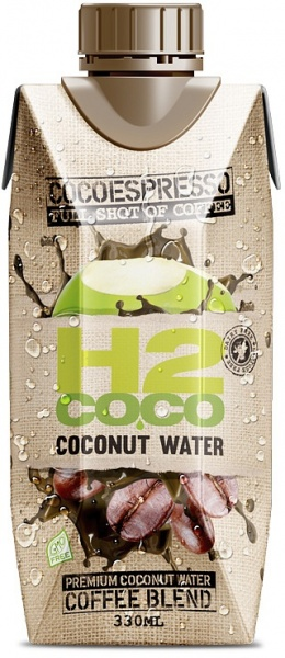 H2Coco Espresso Coconut Water 12x330ml