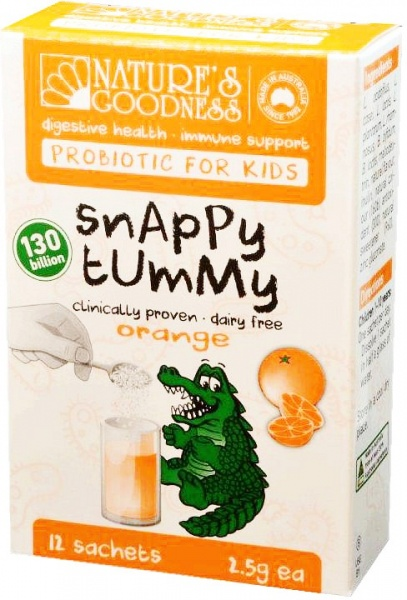 Natures Goodness Probiotic for Kids Snappy Tummy Orange 12 Sachets