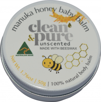 Clean & Pure Manuka Honey Baby Balm Unscented 50g