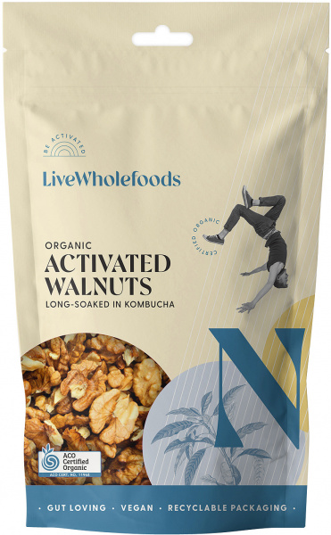 Live Wholefoods Organic Activated Walnuts 300g